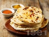Индийски плосък хляб Наан